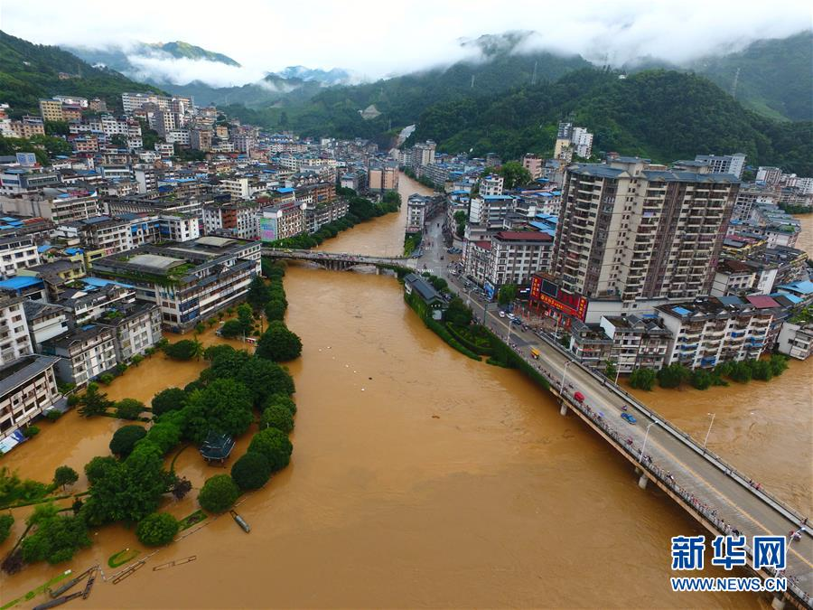 广西龙胜遭遇强降雨