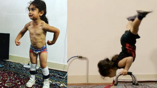 伊朗3岁幼童成为健身达人走红网络