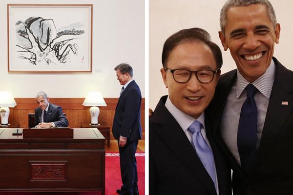 奥巴马到访韩国,见完文在寅又见李明博