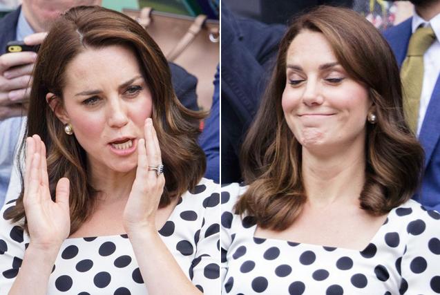 英国凯特王妃观战温网展现表情包属性