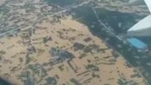 网友飞机上实拍长沙:不敢想象!洪水覆盖