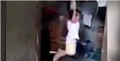 5岁女童偷喝牛奶惨遭养母吊刑