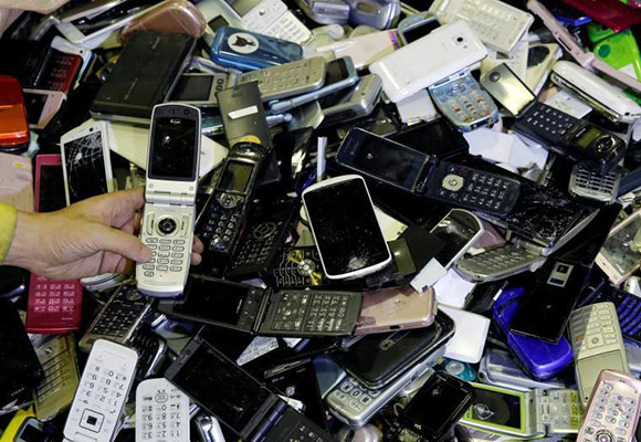 2020东京奥运会回收旧手机造奖牌