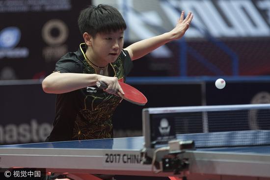 乒联排名:张继科跌至第五 00后小将孙颖莎进前十