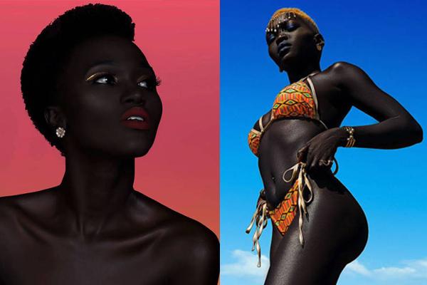 苏丹女模超黑肤色网上爆红 乐观自信圈粉无数