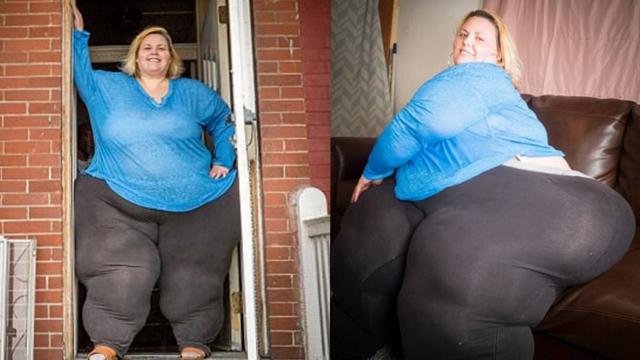 美国女子重450斤臀围2.4米 欲打破最大臀纪录