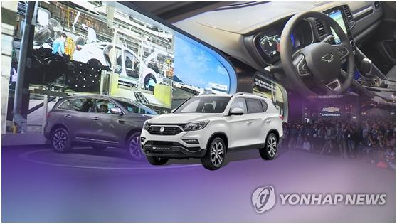 韩汽车在全球3大市场占有率为5.8% 连续4年下降
