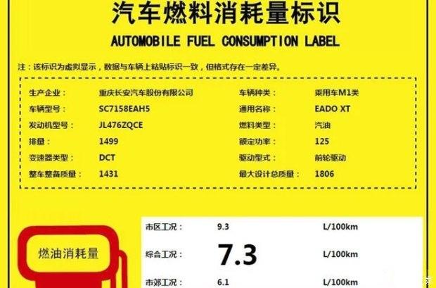 7.3L/100km 曝长安逸动XT 1.5T动力信息