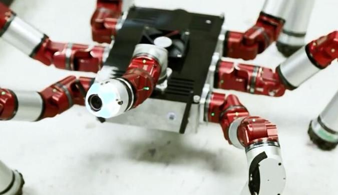 """卡内基梅隆大学研发的蛇形机器人变身""""多脚蛇"""""""