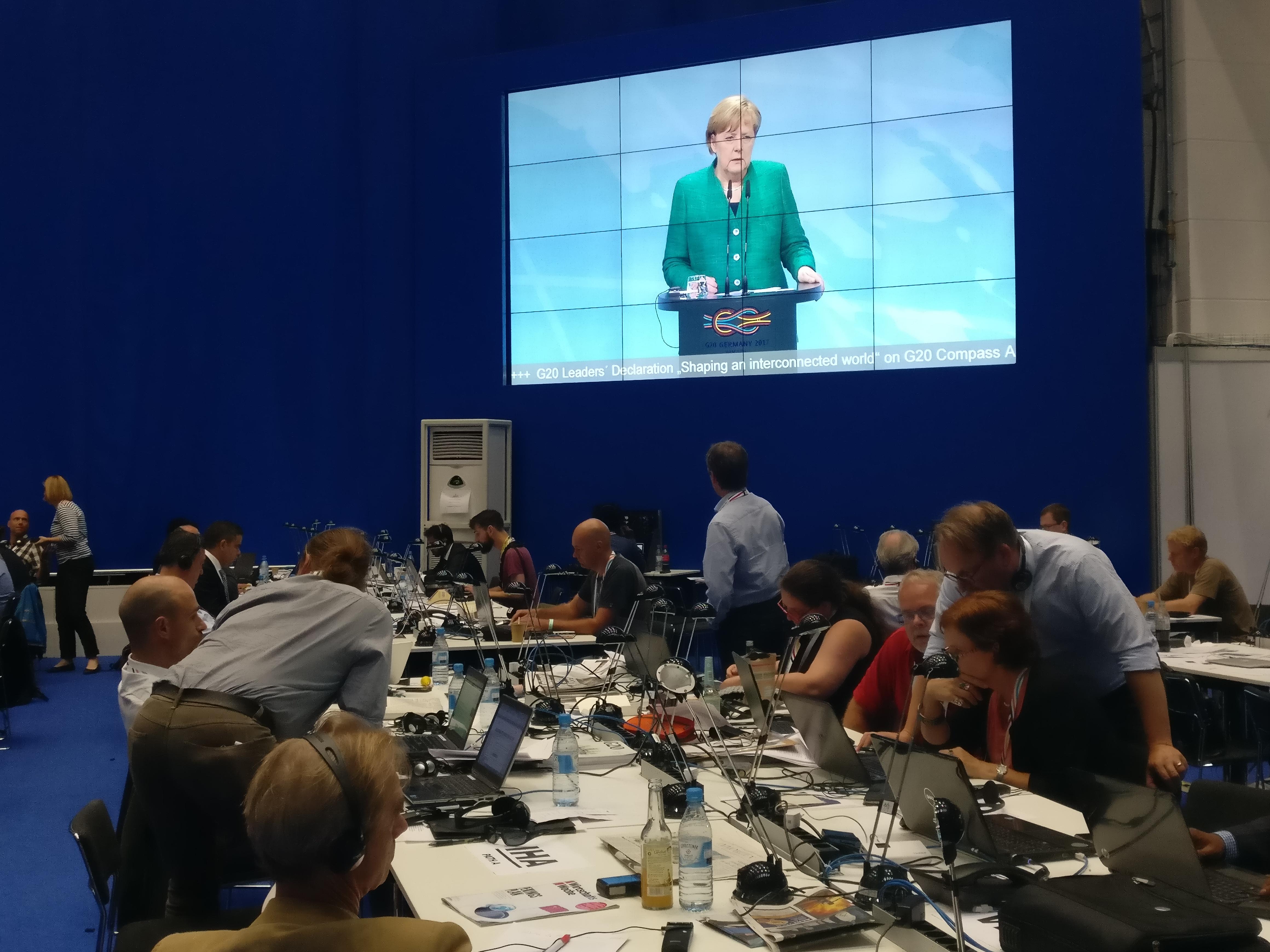 默克尔:G20汉堡峰会未能就气候变化《巴黎协定》达成一致
