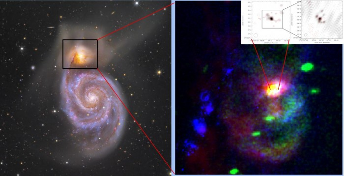 一超大质量黑洞喷出大堆物质