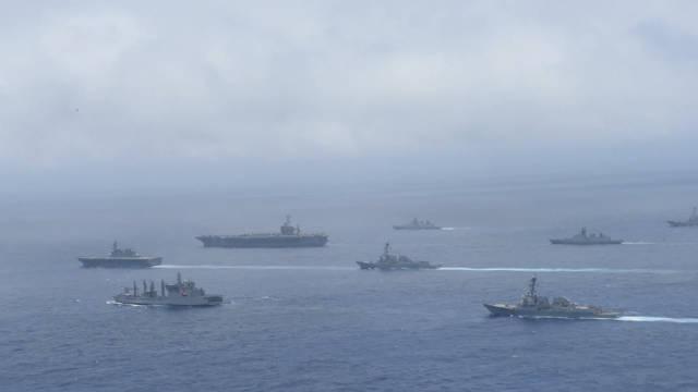 目标中国潜艇?美日印演练罕见出动航母、核潜艇