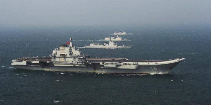 外媒:中国海军有283艘大型战舰 军力四倍于印度