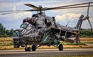 米24武装直升机这个涂装帅爆了