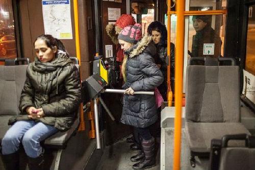 中国侨网资料图:俄罗斯公交车