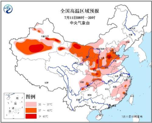 华北西北地区有高温 广西贵州等地仍有较强降雨