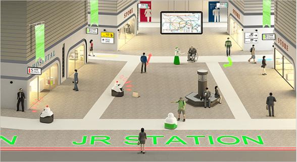 日本火车站尝试用机器人拖运行李和打击扒手犯罪