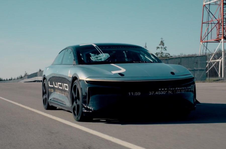极速378公里/时 Lucid Air刷新电动汽车速度纪录