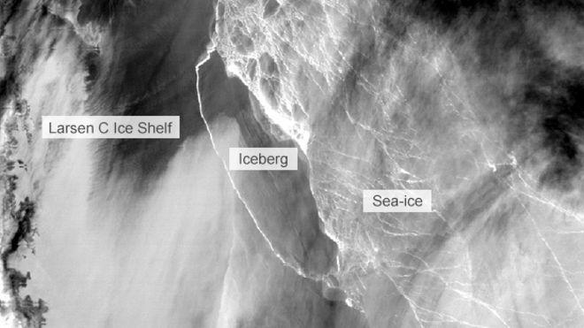 全球十大冰山之一脱离南极大陆 科学家密切监测