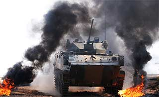 ZBD03战车首次本土出战国际竞赛