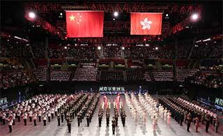 香港红磡举行国际军乐汇演