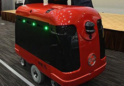 日本快递机器人可装载100公斤物品 送到家门口