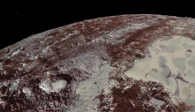 NASA全新视频展示前所未见的冥王星复杂地貌