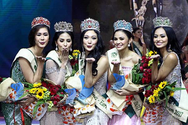 """菲律宾""""地球小姐""""加冕之夜 选美冠军出炉"""