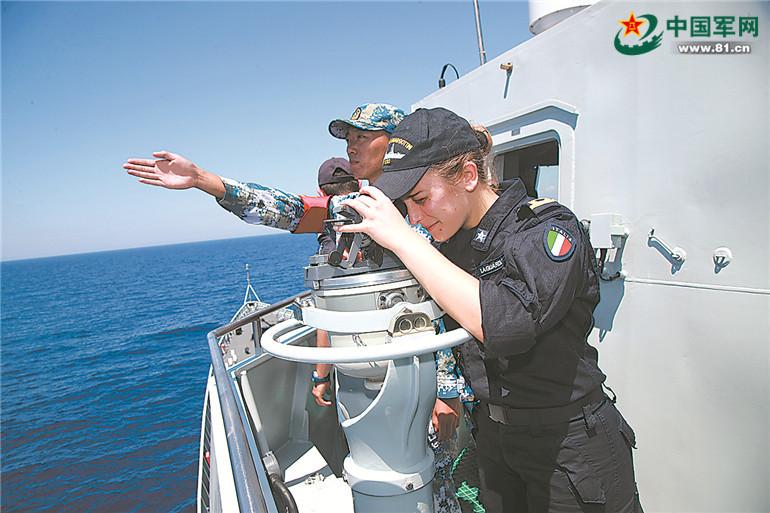 海军远航编队结束访问意大利 双方举行海上联演
