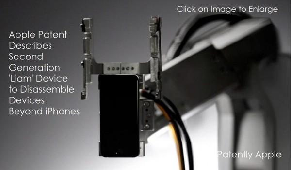 苹果更新电池充电系统专利 或推新一代Liam机器人