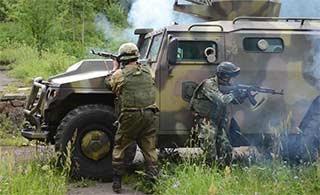 中国与白俄罗斯联合反恐演练