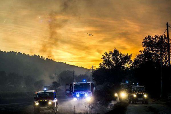 法国南部森林大火肆虐 超350公顷土地受灾严重