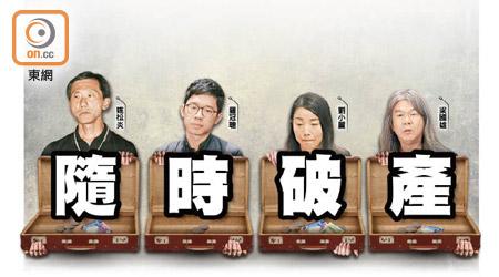 香港4名撤职议员需付天价诉讼费2千万 随时破产