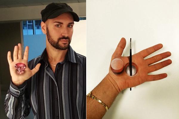 """意大利画家练出""""如来神掌"""" 3D手绘几可乱真"""