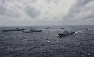 美日印三国海上军演如火如荼