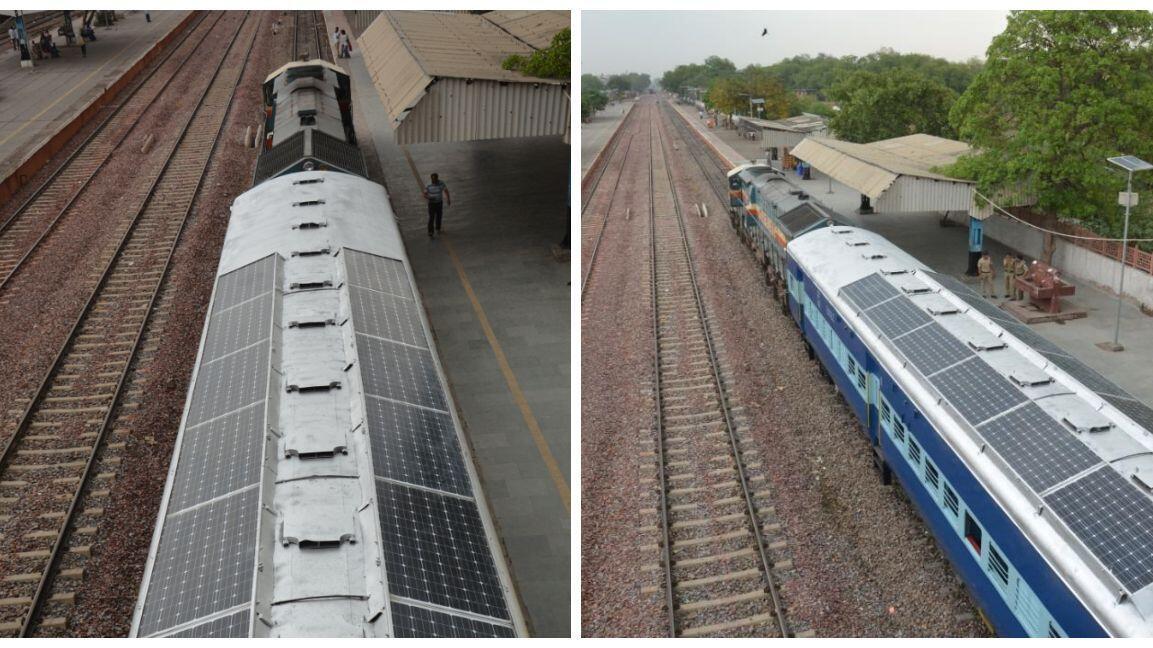 印度配备太阳能火车正式投入运行 将有助减少柴油消耗