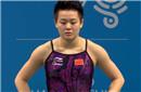 GIF-中国跳水小将现重大失误 退板严重+趴着入水