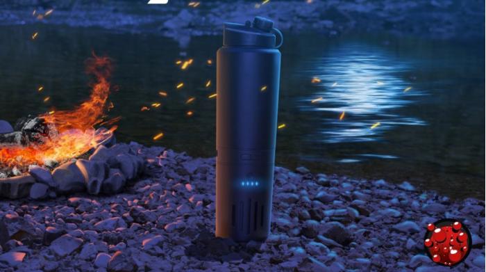 野外烧水不用火 神奇电热罐18分钟让冰块变热水