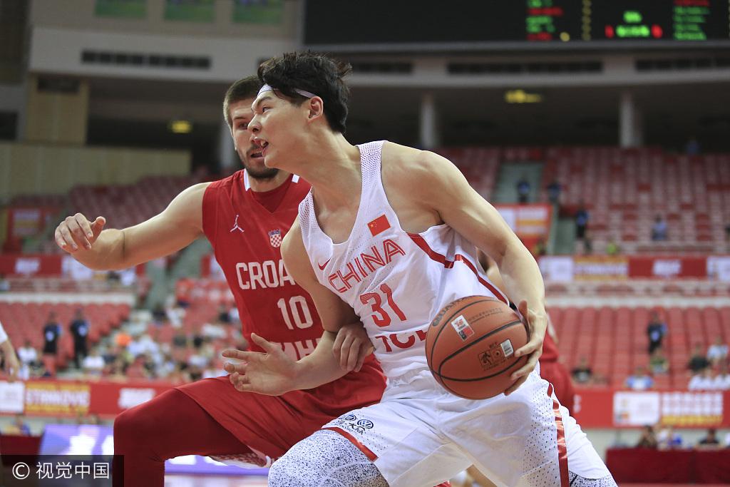 斯杯-男篮10分负于克罗地亚 孟铎20+6王哲林6+5