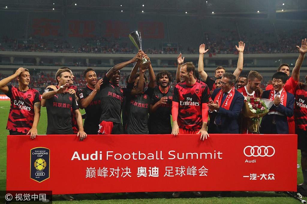 国际冠军杯-阿森纳读秒扳平 点球大战4-3灭拜仁