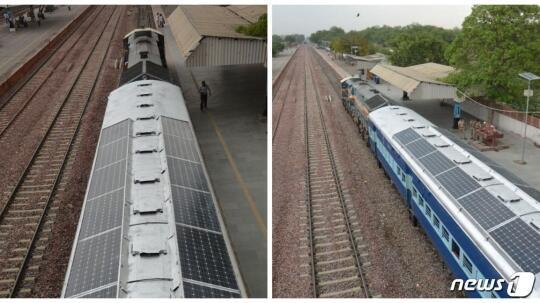 印度首次出现太阳能列车 10年有望节省60亿美元