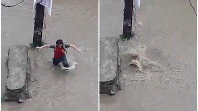 有惊无险!尼泊尔女孩不慎掉入排水渠幸生还