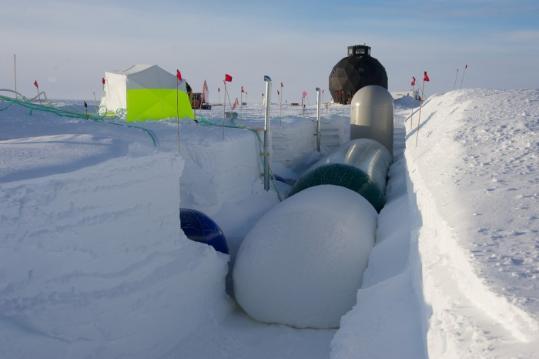 极地科学家用气球建隧道:新技术既结实又环保