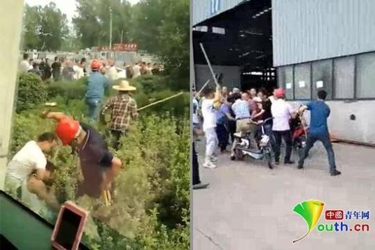 江苏一工厂发生斗殴工人持锤砸人 警方:系劳资纠纷