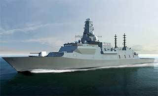 英国最新护卫舰动工 造型科幻