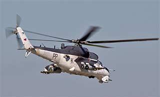 捷克米-24武装直升机涂装奇特