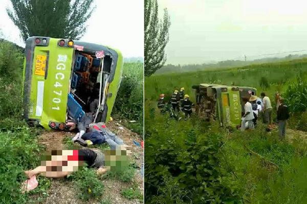 河北蔚县附近大货车与客车相撞 已致10死12伤
