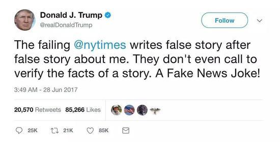 特朗普上任半年:推文近千条 记者会就一场
