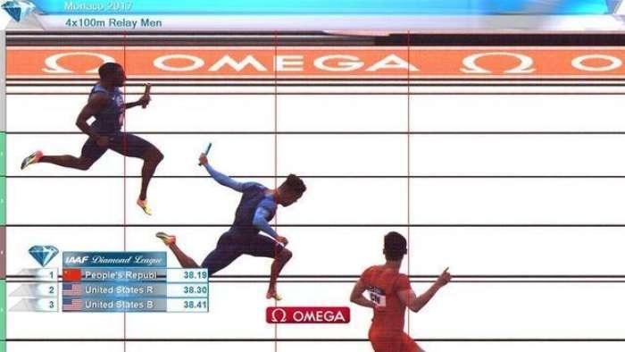 战胜美国等四强!钻石联赛男子4X100中国夺冠