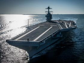全球最大超级航母杰拉德·R·福特级母舰正式服役